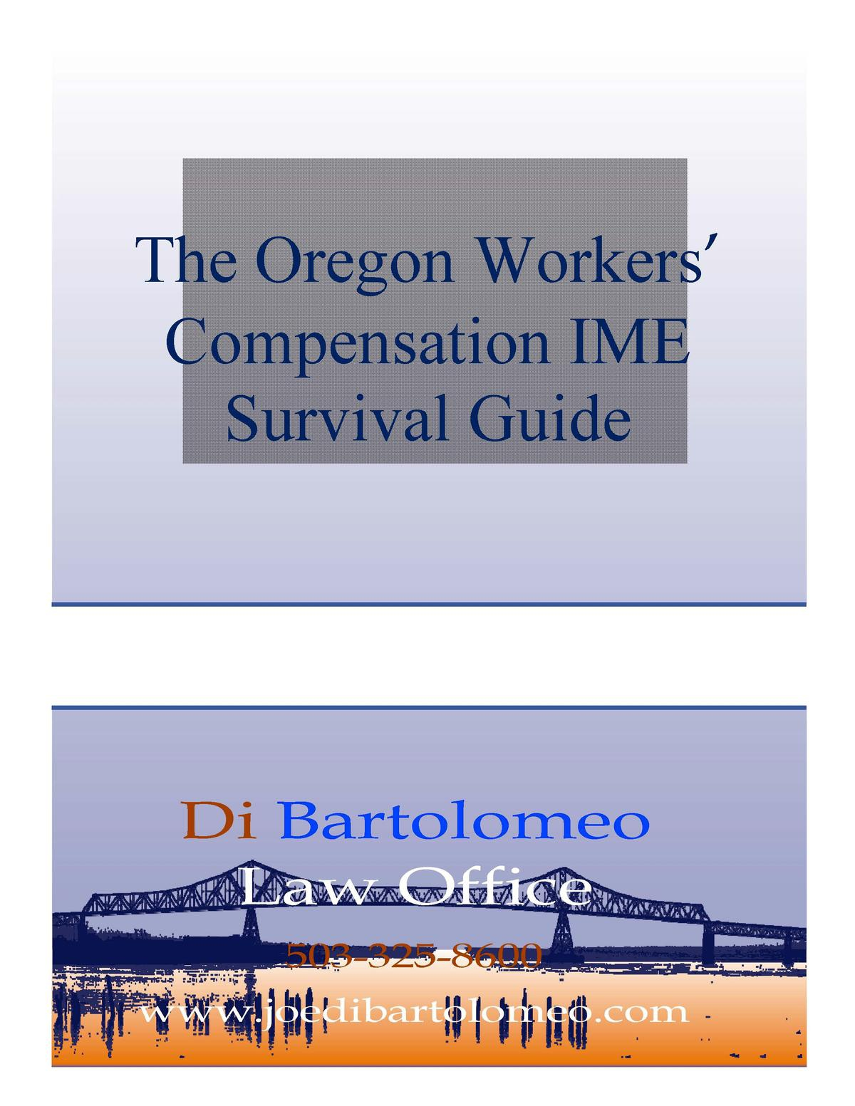 The Oregon Workers Compensation IME Survival Guide