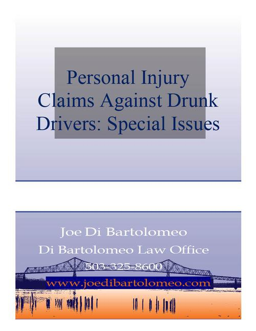 Oregon Personal Injury Claims and Drunk Drivers