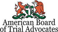 Logo Recognizing Di Bartolomeo Law Office's affiliation with American Board of Trial